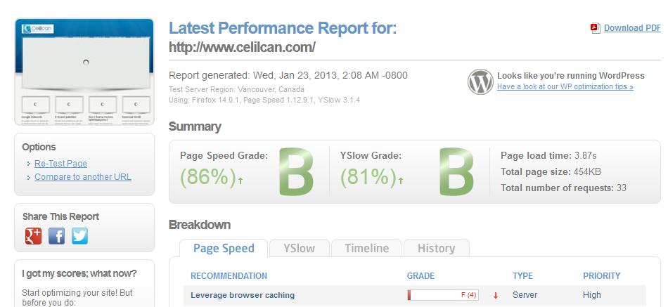 site hızı analiz araçları