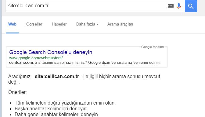 google filtre tespiti