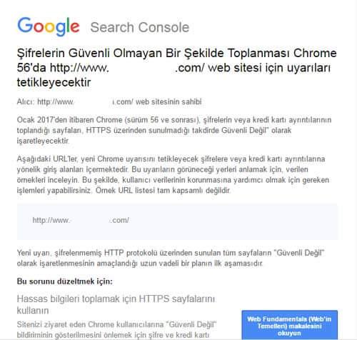 sifrelerin guvenli olmayan sekilde toplanmasi google